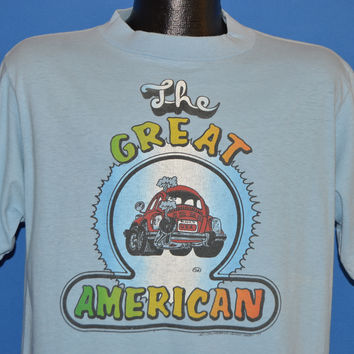 70s The Great American Volkswagen Beetle Rainbow t-shirt Large