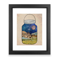 Society6 Star Jar Framed Print