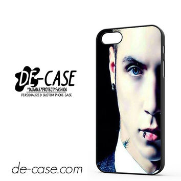 Andy Biersack Black Veil Brides Half Face DEAL-765 Apple Phonecase Cover For Iphone 5 / Iphone 5S