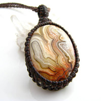 Crazy Lace Agate Necklace / Yellow / Agate Jewelry / Dramatic / Earthy / Sunshine / Jewelry Unique / Metaphysical / Mexican Agate