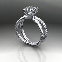 Forever Brilliant Moissanite Twist Shank Engagement Ring 1.50 CTW
