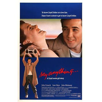 Vintage Say Anything Poster//Classic Movie Poster//Movie Poster//Poster Reprint//Home Decor//Wall Decor//Vintage Art