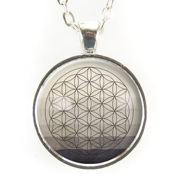 Sacred Geometry Flower Of Life Necklace