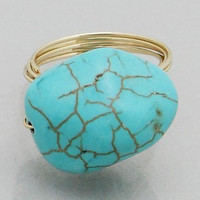 'Parallel' Turquoise Ring