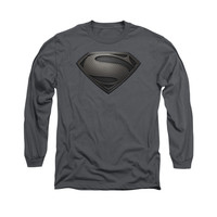 Superman Man Of Steel Desaturated Mens Long Sleeve T-Shirt