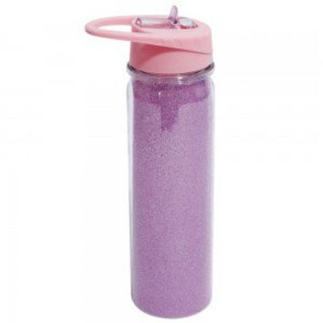 Flyaway pink glitter water bottle