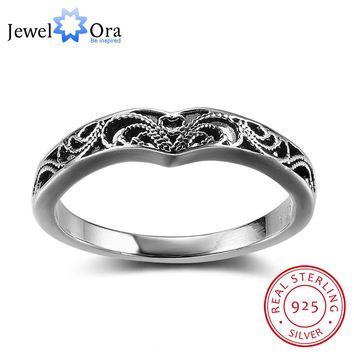 Bohemia Style Fashion Victorian Solid 925 Sterling Silver Jewelry Women Rings For Party Gift for Her (JewelOra RI102351)