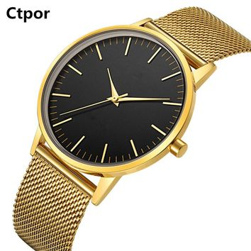 Top Design Stainless Steel  14k Gold Watches Men