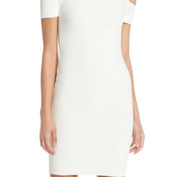 BCBGMAXAZRIA 'Monicka' Cold Shoulder Knit Body-Con Dress | Nordstrom