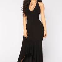 Lust For Life Maxi Dress - Black
