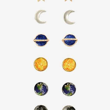 Blackheart Solar System Earring Set