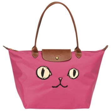 Tote bag - Le Pliage « Miaou » - Handbags - Longchamp - Navy - Longchamp United-States