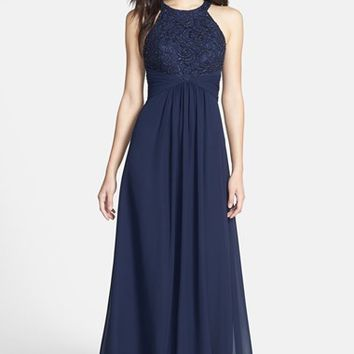 Eliza J Beaded Lace & Chiffon