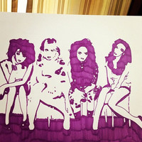 Little Mix Pop Art by Courtneydrawings on Etsy