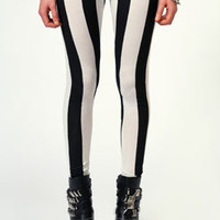 Lilly Monochrome Striped Leggings