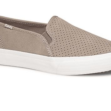 Keds Double Decker Perforated Suede Slip On Sneaker