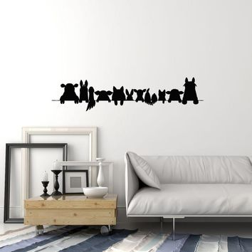Vinyl Wall Decal Farm Animals Silhouette Home Room Decoration Idea Art Stickers Mural (ig5606)
