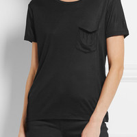 Saint Laurent - Silk-jersey T-shirt