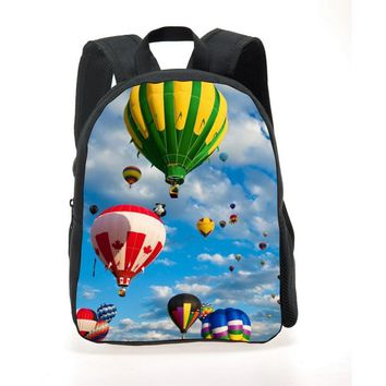 2017 new Graffiti printed school bag for boys,cute balloon baby bag for school, girl school bags kids book bags for mochilas inf