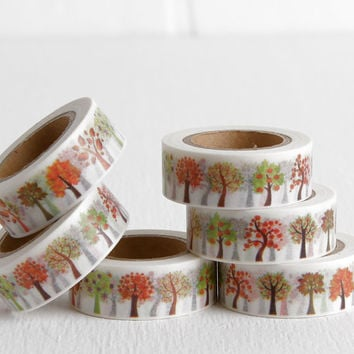 Fruit Tree Washi Tape, Apple Tree Washi, 15mm