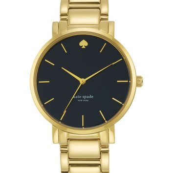 kate spade new york Women's Gramercy Grand Gold-Tone Stainless Steel Bracelet Watch 38mm 1YRU0547