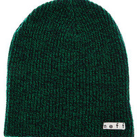 The Daily Heather Beanie in Green and Navy