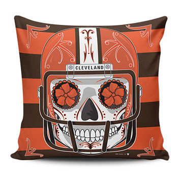 Browns Sugar Skull Pillow Covers