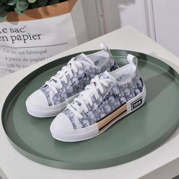 Dior Women's Leather Fashion Sneakers Shoes-KUYOU