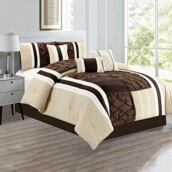 D&B New York Collection - Luxury 7 Piece Comforter Set