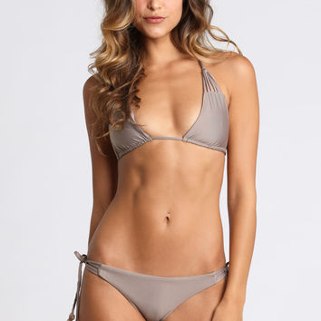 Strappy Triangle Top in Putty