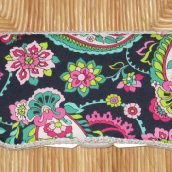 Custom Boutique Travel Size Baby Wipe Case matches Vera Bradley Petal Paisley