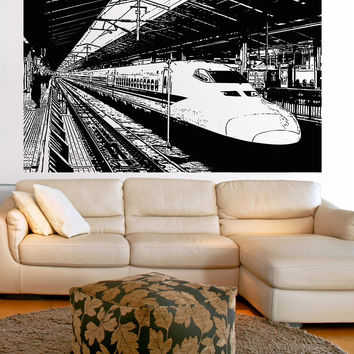 Vinyl Wall Decal Sticker Japanese Bullet Train #5239