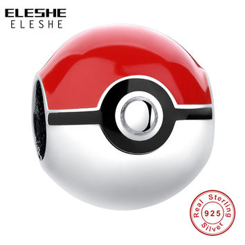 Sterling Silver Pikachu Elf Bead Pokemon Ash Ball Charm
