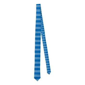 Stylish Blue And White Stripe Pattern Tie