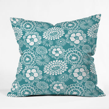 Heather Dutton Festibloom Throw Pillow