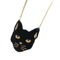 Halloween Cat Pattern Cable Chain Necklace