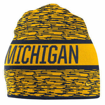 NCAA Michigan Wolverines Navy Reversible Local DNA Knit Hat