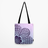 Floral Blush Tote Bag by Inspired Images