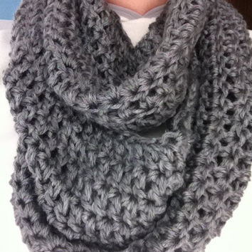 Womens Infinity Scarf Crochet Scarf From Melissas Knits