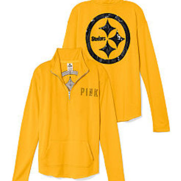 Pittsburgh Steelers Bling Half Zip Pullover - PINK - Victoria's Secret