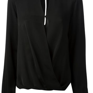 Michael Michael Kors Draped Wrap Blouse