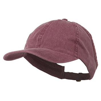 Ladies Washed Cotton Ponytail Cap
