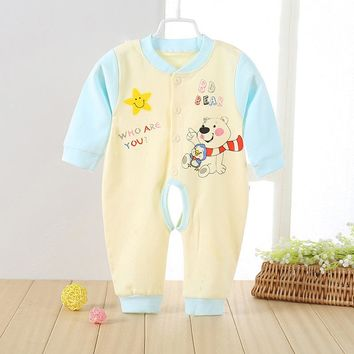 Spring Autumn Baby Rompers Boys Girls Cotton Long-Sleeve Clothes Babys Cute Animal Pattern Crawling Coverall Clothing CL2045