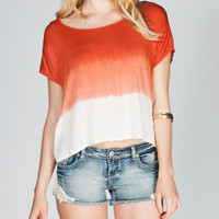 Eyeshadow Tie Dye Womens Tee Orange  In Sizes