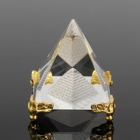 Energy Healing Small Feng Shui Egypt Egyptian Crystal Clear Pyramid Ornament Home Decor Living Room Decoration