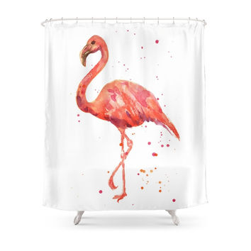Society6 Flamingo, Pink Flamingo, Tropical, Bird Art, Florida Shower Curtains