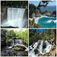 "WATERFALL Greeting Cards, Handmade Photo Cards, 4-piece set, 5"" x 7"", Blank Inside"