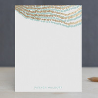 Pearl Strands Foil-Stamped Stationery by Kaydi Bis... | Minted