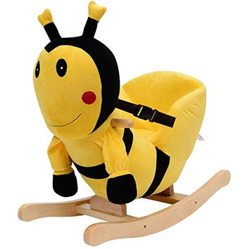 Kids Plush Rocking Horse-Style Bumble Bee Theme Chair