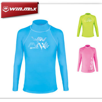WINMAX Kid Rash Guard Sunproof Long Sleeve Swimwear Rashguard Bodyboard Rash Surfing Suit Rashguards Surf Clothes for Boys Girls